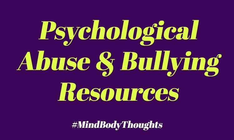 Psychological Abuse and Bullying Resources