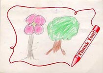 Helping Children International Create Hope - thank you note from sponsored child
