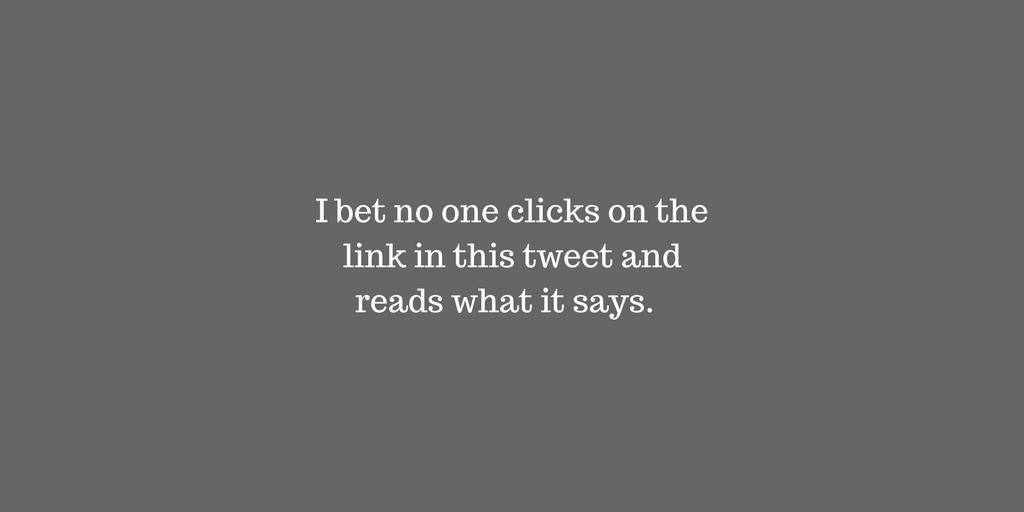 I Bet No One Clicks