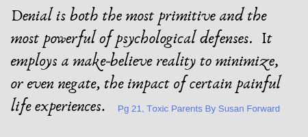 Denial is both the most primitive and the most powerful of psychological defenses
