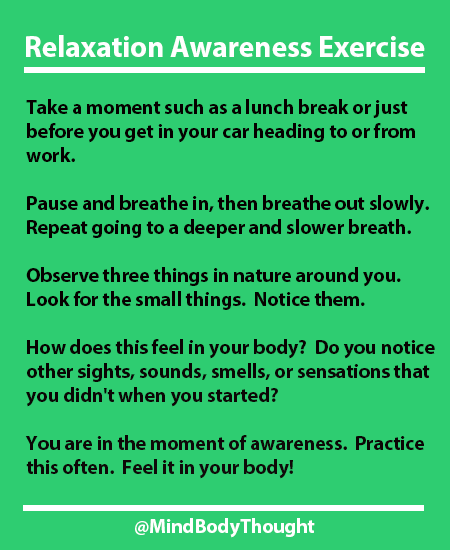 Relaxation Awareness Exercise