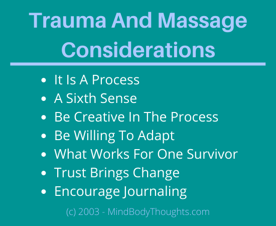 Trauma And Massage Considerations