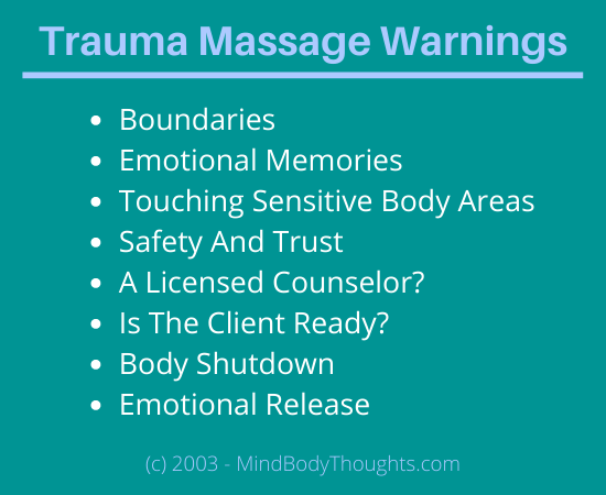 Trauma Massage Warnings