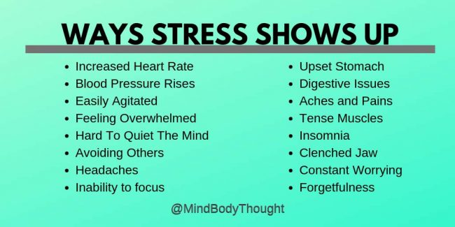 Ways Stress Shows Up