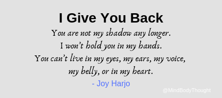 You are not my shadow any longer_Joy Harjo Poem Quote