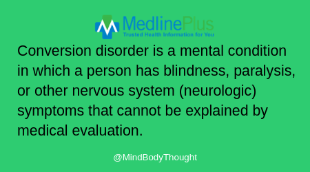 medline plus conversion disorder defined